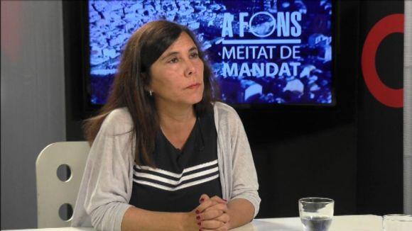Cristina Paraira en una entrevista a Cugat.cat