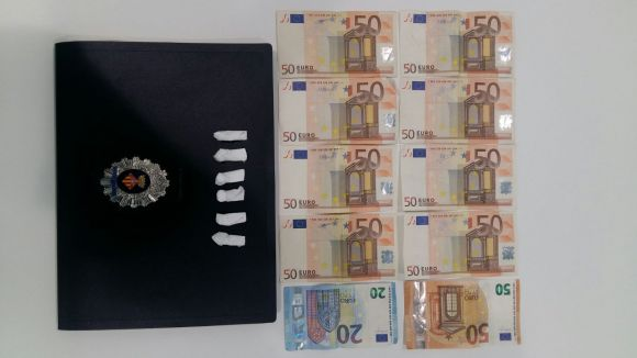 Policia Local deté un home que portava sis grams de cocaïna i 470 euros en efectiu