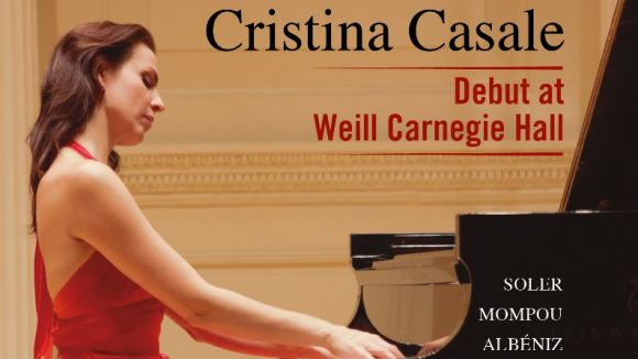 La pianista Cristina Casale enregistra un disc amb el repertori de la gira als Estats Units del 2014