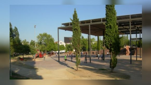 El parc de Ramon Barnils, on estarà ubicada la futura biblioteca central urbana