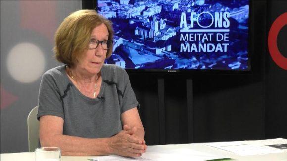 Roser Casamitjana durant l'entrevista