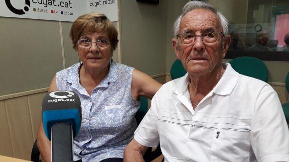 Jaume Pahissa, a la dreta, a l'estudi Ramon Barnils de Cugat Mèdia / Foto: Cugat Mèdia