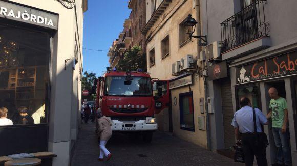 Tres dotacions de bombers s'han traslladat al lloc dels fets