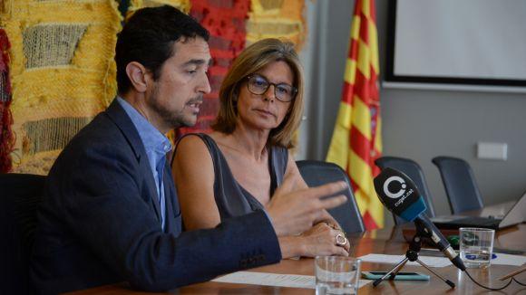 Damià Calvet i Carmela Fortuny han presentat la proposta / Foto: Localpres