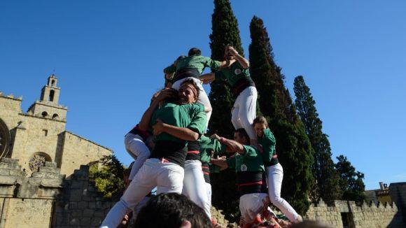 Els gausacs celebren el seu 25è aniversari fent castells / Foto: Premsa Sant Cugat