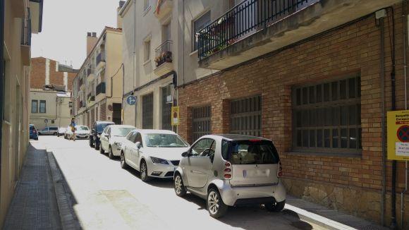 Tret de sortida de les obres del vianantització al carrer de la Fàbrica