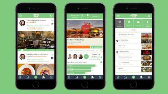 L'app és una xarxa social sobre restaurants / Foto: https://www.friendsyfood.com/