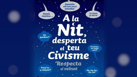 Detall del cartell de la campanya / Foto: Ajuntament