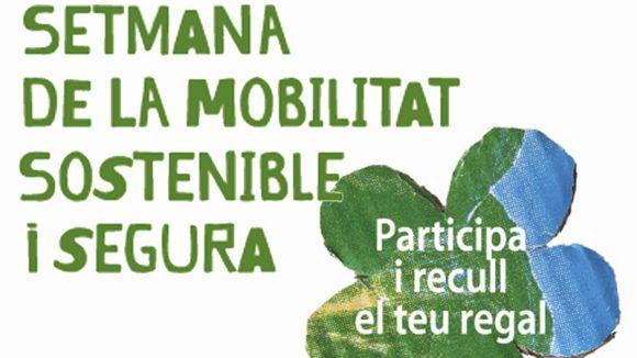 Cartell de la setmana de la Mobilitat Sostenible i Segura. / Foto: Ajuntament