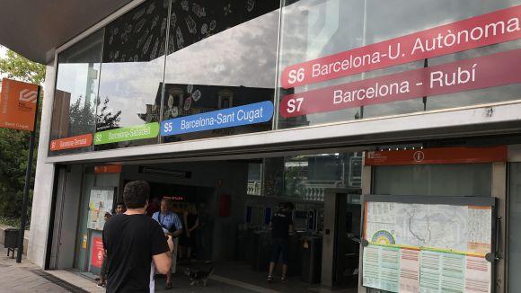 Els passatgers de FGC a Sant Cugat augmenten un 62% per la manifestació contra el terrorisme