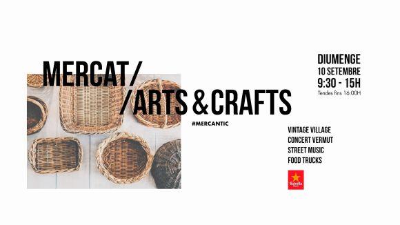 Cartell de l'edició del Mercat d'Arts & Crafts al Mercantic / Foto: Facebook Mercantic