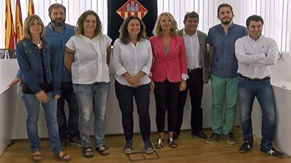 Representants dels partits sobiranistes del ple de Sant Cugat