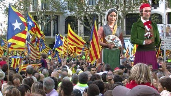 Sant Cugat suma a la multitudinària 'Diada del Sí'