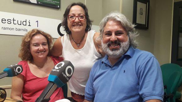 Judit Coll i Miquel Delclòs amb la presentadora Carme Reverte