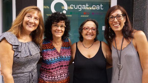 D'esquerra a dreta, Marisa Salgado, Marta Artigas, Carme Reverte i Mar Oñate