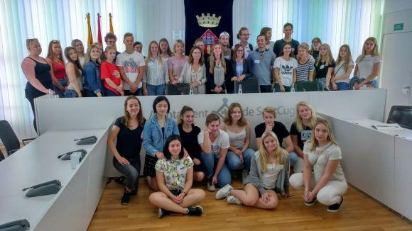 Sant Cugat rep els estudiants suecs d'intercanvi amb l'institut Pla i Farreras