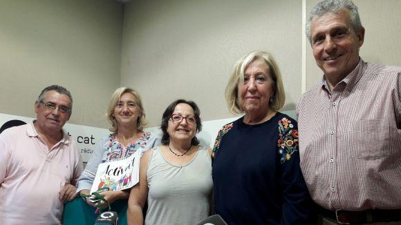 D'esquerra a dreta: Juan Merino, Susanna Pellicer, Carme Reverte, Assumpta Pla, Quim Castelló