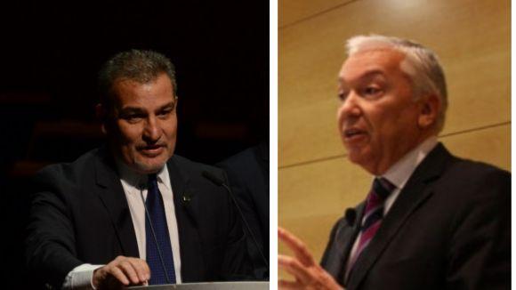 Joan Franquesa (SCE) i Antoni Abad (CECOT) / Foto: Localpres / ACN