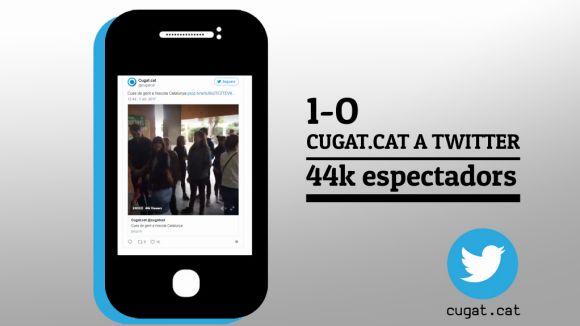 Un vídeo de Cugat.cat de l'1-O aconsegueix més de 44.000 visionats en directe, arreu de Catalunya
