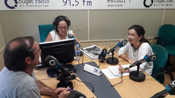 D'esquerra a dreta: Francesc Codonyés, Carme Reverte i María José Blabia