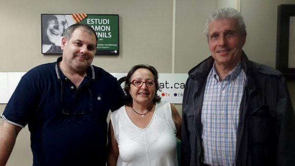 D'esquerra a dreta, Juanjo Cortés, Carme Reverte i Quim Castelló