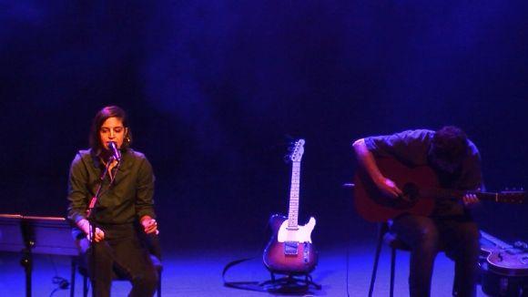 Moment de l'homenatge musical a Palau i Fabre