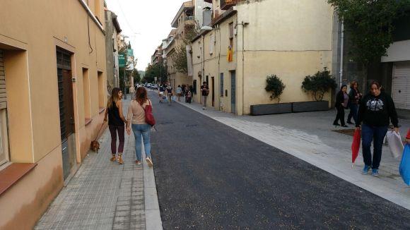 Dos anys de la vianantització del carrer de la Creu