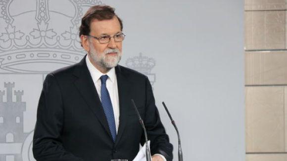 Mariano Rajoy, en roda de premsa aquest dissabte / Foto: ACN