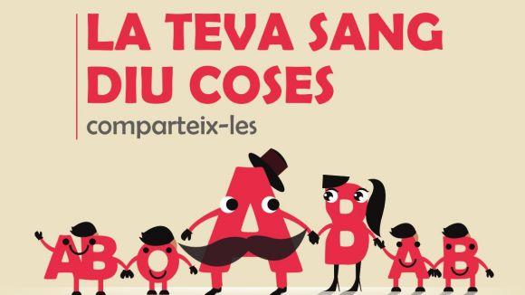 Detall d'un cartell d'una campanya de donació de sang