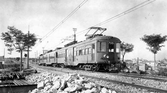 Sant Cugat celebra els 100 anys del tren / Foto: Arxiu FGC