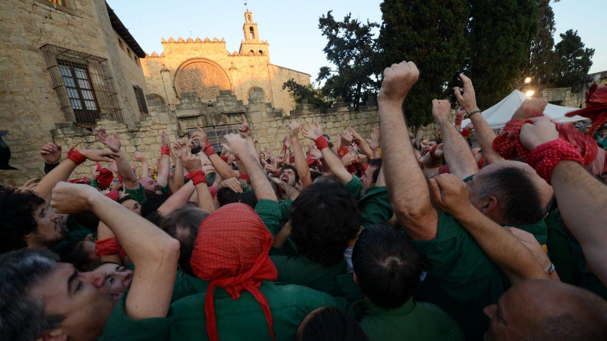 Emoció dels Gausacs a la plaça d'Octavià / Foto: Localpres