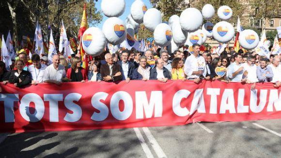 Presència santcugatenca a la multitudinària marxa de SCC a Barcelona