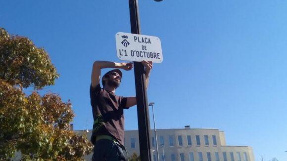 El Comitè de Defensa de la República rebateja la plaça del Rei per plaça de l'1 d'Octubre