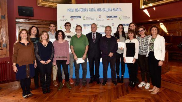 Tres alumnes de l'Angeleta Ferrer, guardonades amb el Premi UB-Ferran Adrià amb Gallina Blanca