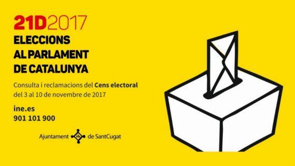 Consulta el cens electoral de les eleccions del 21 de desembre