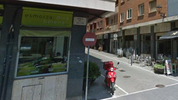 Talls de trànsit al carrer de Sant Ramon fins dijous per obres d'arranjament de la vorera