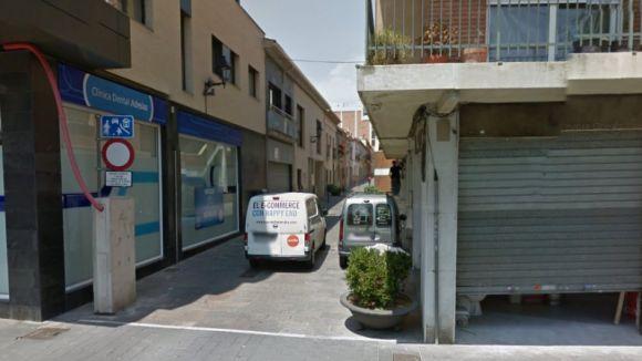 Imatge de l'encreuament entre el carrer del Carme i la Rambla del Celler