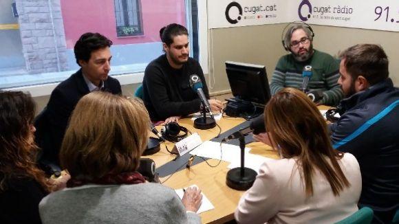 Els tertulians d'aquest dimecres amb el sostdirector de Cugat.cat, Joan Miquel Fernández