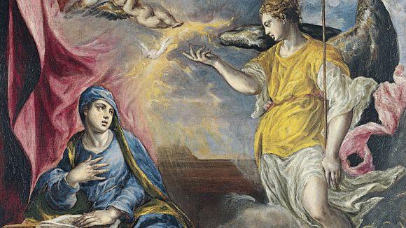 L'Anunciació (1573-1576), del Greco, està exposada en el Museu Thyssen-Bornemisza de Madrid. / Foto: Creative Commons