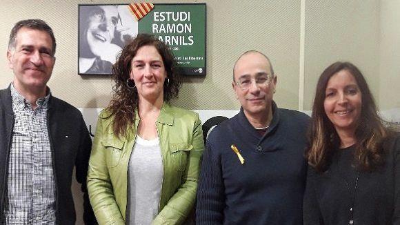 Desquerra a dreta, Carles Ventura, Susanna García, Juanjo Fernández i Laia del Río