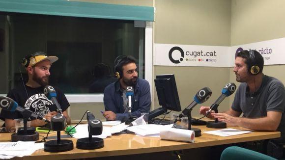 Joan Bustamante, Martí González i Carles Mayol en un moment del programa