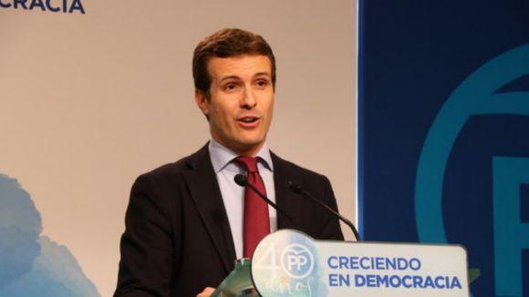 El vicesecretari de comunicació del PP, Pablo Casado, visita aquest divendres Sant Cugat