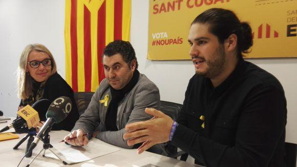 Els regidors d'ERC-MES, Mireia Ingla, Ferran Villaseñor i Èric Gómez