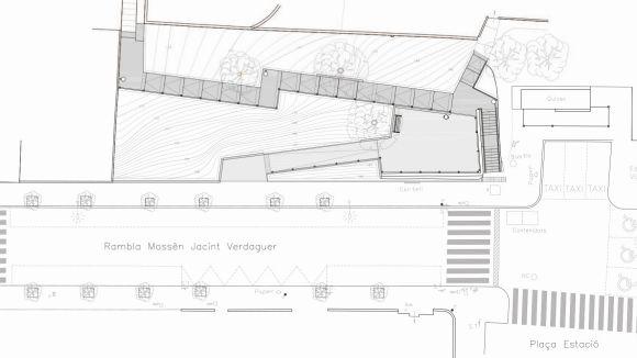 Valldoreix tindrà una plaça-mirador i noves escales que uniran la plaça de l'Estació i el carrer de l'Església