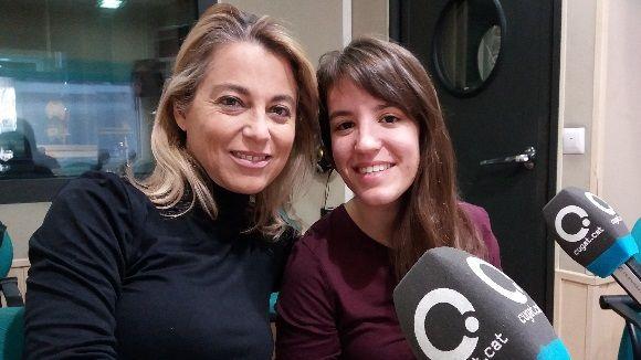 D'esquerra a dreta, Helena Aranyó i Sara Santos