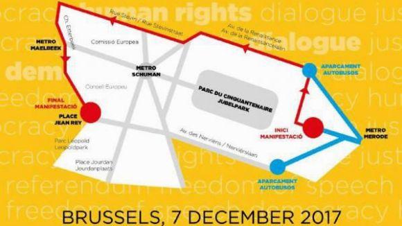 La manifestació acabarà prop del Parlament Europeu / Foto: ANC