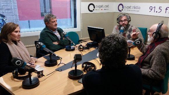 Els tertulians d'aquest dilluns amb el sotsdirector de Cugat.cat, Joan Miquel Fernández