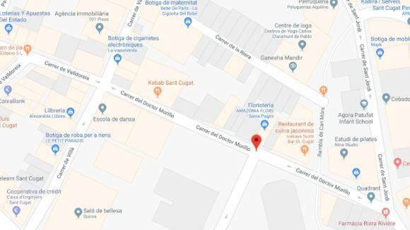 Els Bombers apaguen un foc declarat a un contenidor soterrat del carrer Doctor Murillo