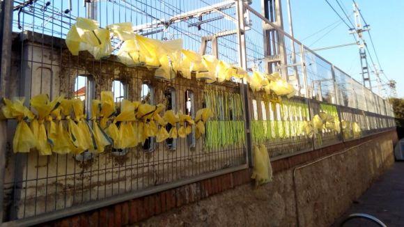 Imatge de llaços grocs a Sant Cugat / Foto: CDR