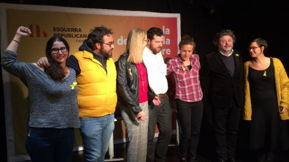Els participants de l'acte a la Casa de Cultura